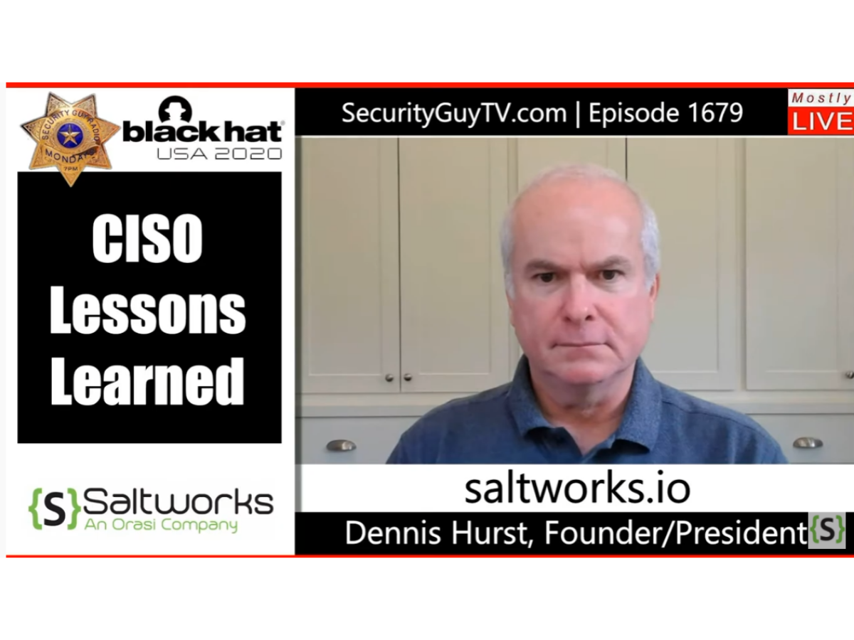 CISO Lessons Learned (with Chuck Harold of Security Guy TV)